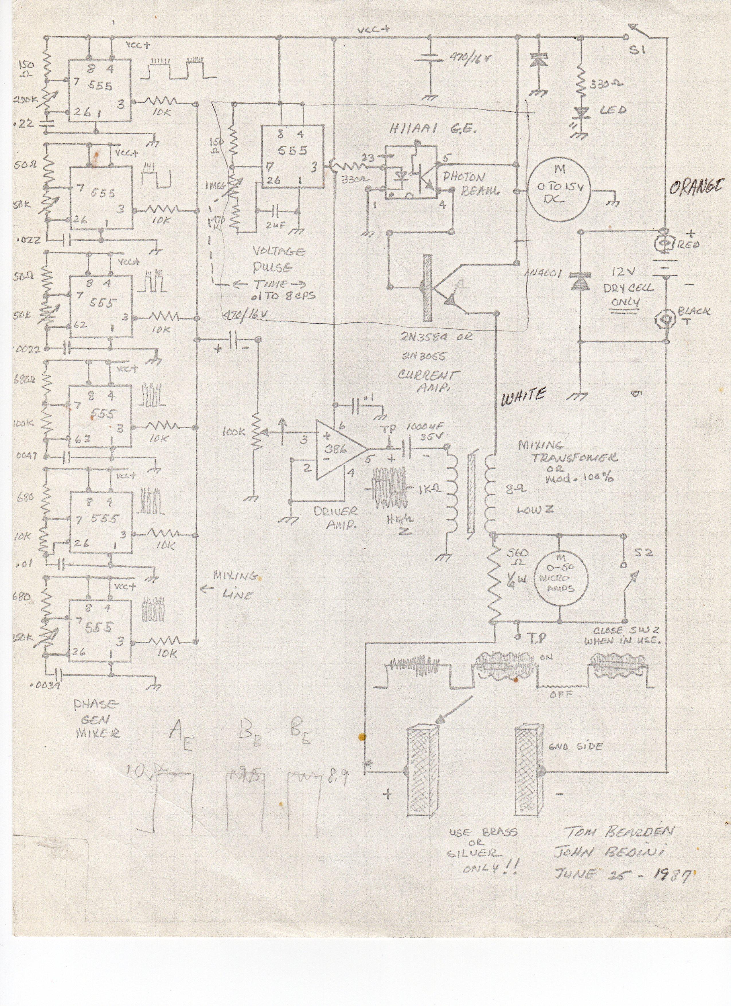 Bedini Virus Killer Schematic Alternating Current Generator Diagram Besides Motor Http Johnbedininet John34 Medmachine010
